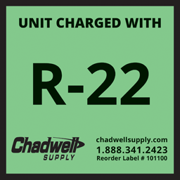 Picture of R22 ADHESIVE LABEL - GREEN - 10/PK