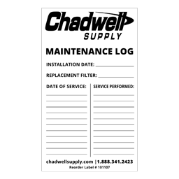 Picture of MAINTENANCE LOG LABEL - WHITE - 100/PK