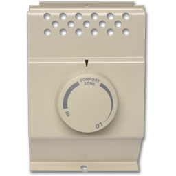 Picture of DOUBLE POLE BASEBOARD HEATER THERMOSTAT - ALMOND