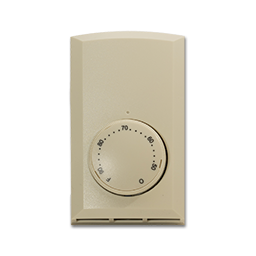 Picture of CADET LINE VOLTAGE THERMOSTAT 22A DOUBLE POLE - ALMOND