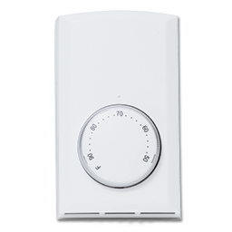 Picture of T410A CADET LINE VOLTAGE THERMOSTAT 22A SINGLE POLE - WHITE