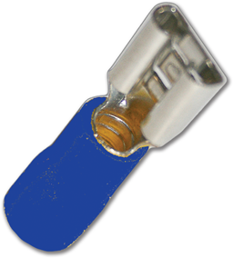 "Picture of INSULATED BLUE FEMALE TAB TERMINAL 1/4""; 16-14AWG"