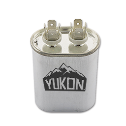 Picture of 5 MFD 370V OVAL CAPACITOR