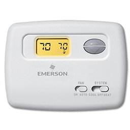 Picture of WHITE RODGERS DIGITAL HORIZONTAL HEAT/COOL THERMOSTAT