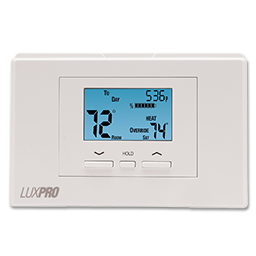 Picture of LUX DIGITAL 5/2 DAY PROGRAMMABLE HEAT PUMP THERMOSTAT - P521U