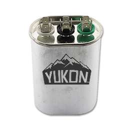 Picture of 25+5 MFD 440V DUAL OVAL CAPACITOR