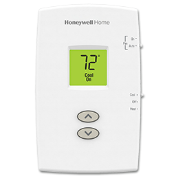 Picture of HONEYWELL DIGITAL VERTICAL HEAT/COOL THERMOSTAT