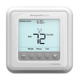 Picture of HONEYWELL T6 PRO PROGRAMMABLE HEAT PUMP DIGITAL THERMOSTAT