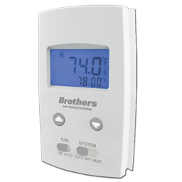 Picture of BROTHERS STRAIGHT COOL VERTICAL NON-PROGRAMMABLE THERMOSTAT
