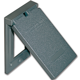Picture of WEATHERPROOF GFI/DECORA RECEPTACLE COVER - GREY METAL