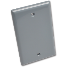 Picture of WEATHERPROOF SINGLE GANG BLANK PLATE - GREY POLYCARBONATE
