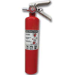 Picture of 2-1/2LB FIRE EXTINGUISHER CERTIFIED - 1-A:10-B:C - ALUM CYL/METAL HEAD