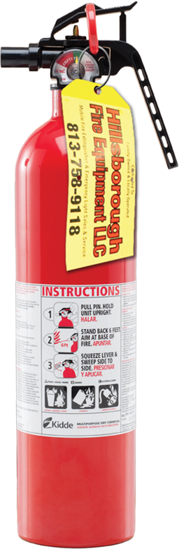 Picture of 2-1/2LB FIRE EXTINGUISHER CERTIFIED - 1-A:10-B:C - ALUM CYL/NYLON HEAD - SINGLE USE