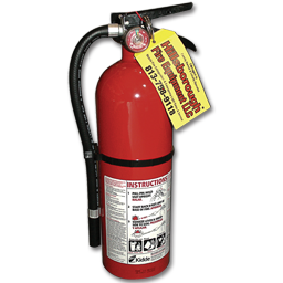 Picture of 5LB FIRE EXTINGUISHER CERTIFIED - 3-A:40-B:C - ALUM CYL/ALUM HEAD - RECHARGEABLE