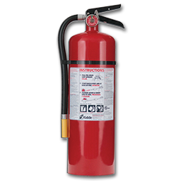 Picture of 10LB FIRE EXTINGUISHER CERTIFIED - 4-A 60-B:C - STEEL CYL/ALUM HEAD - RECHAREABLE