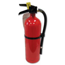 Picture of 2-1/2LB FIRE EXTINGUISHER NON-CERTIFIED - 1-A:10-B:C - ALUM CYL/METAL HEAD - SINGLE USE