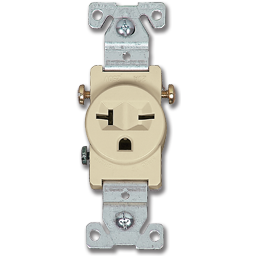 Picture of 20A 250VAC SINGLE RECEPTACLE - IVORY