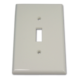 Picture of MIDI SINGLE GANG SWITCH WALL PLATE - WHITE