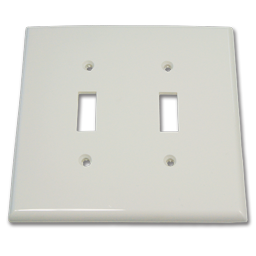 Picture of JUMBO 2-GANG SWITCH PLATE - WHITE