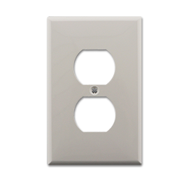 Picture of MIDI DUPLEX RECEPTACLE WALL PLATE - WHITE