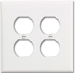 Picture of STANDARD 2-GANG DUPLEX RECEPTACLE PLATE - WHITE