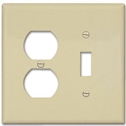 Picture of STANDARD DUPLEX RECEPTACLE/SWITCH PLATE - IVORY