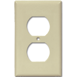 Picture of JUMBO DUPLEX RECEPTACLE PLATE - IVORY
