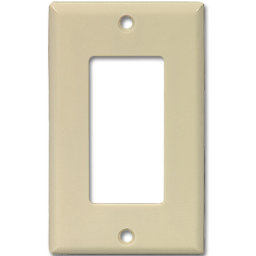 Picture of STANDARD DECORA SWITCH PLATE - IVORY