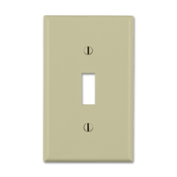 Picture of JUMBO SINGLE GANG SWITCH PLATE - IVORY