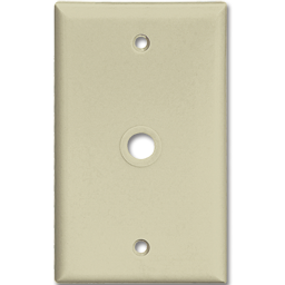 Picture of STANDARD CABLE/PHONE WALL MOUNT PLATE - IVORY