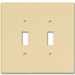 Picture of MIDI 2-GANG SWITCH PLATE - IVORY
