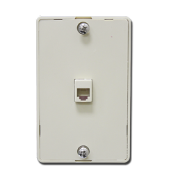 Picture of WALL MOUNT TELEPHONE JACK - IVORY