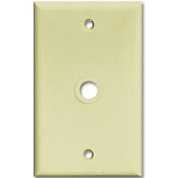 Picture of MIDI CABLE/PHONE WALL MOUNT PLATE - IVORY
