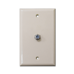 Picture of STANDARD CABLE OUTLET PLATE - IVORY