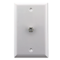 Picture of STANDARD CABLE OUTLET PLATE - WHITE