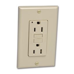 Picture of WSL- LEVITON GFCI 15A RECEPTACLE - IVORY