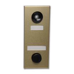 Picture of DOOR CHIME WITH VIEWER - 686102 - ANODIZED GOLD