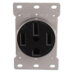 Picture of 50AMP RANGE RECEPTACLE FLUSH MOUNT 4 WIRE