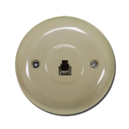 Picture of ROUND TELEPHONE JACK - IVORY