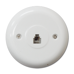 Picture of ROUND TELEPHONE JACK - WHITE