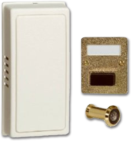Picture of WHITE/GOLD MECHANICAL DOOR CHIME WITH VIEWER