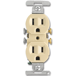 Picture of 15AMP DUPLEX RECEPTACLE - IVORY