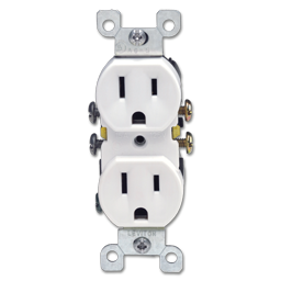Picture of 15AMP DUPLEX RECEPTACLE - WHITE