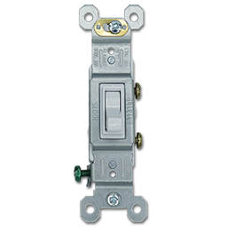 Picture of SINGLE POLE SWITCH - WHITE