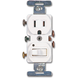 Picture of SWITCH RECEPTACLE COMBO - WHITE