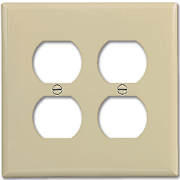 Picture of MIDI 2-GANG DUPLEX RECEPTACLE WALL PLATE - IVORY