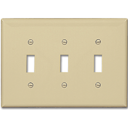 Picture of STANDARD 3-GANG SWITCH WALL PLATE - IVORY