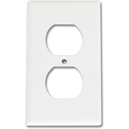 Picture of STANDARD DUPLEX RECEPTACLE WALL PLATE - WHITE