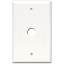 Picture of STANDARD CABLE/PHONE WALL MOUNT PLATE - WHITE