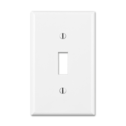 Picture of STANDARD SINGLE GANG SWITCH WALL PLATE - WHITE